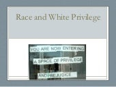 Race and white privilege