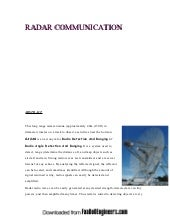 Radar communication 2