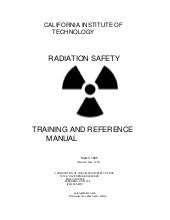 Radiation safety training_manual