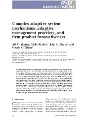 Complex adaptive system mechanisms,...