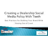Creating a Dealership Social Media ...