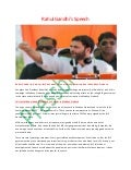 Congress Vice President Rahul Gandhi Speech