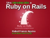 Ruby on Rails - ETyC 2011