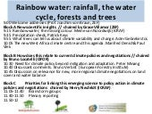 Rainbow water: rainfall, the water ...