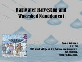 Rainwater harvesting and watershed ...