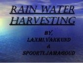 Rain Water Harvesting By Laxmi And Spoorti