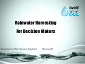 Rainwater Harvesting For Decision M...