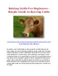 Raising Cattle For Beginners - Simple Guide to Rearing Cattle