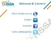 2013-02 Raleigh ISSA Chapter Update...