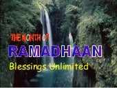Ramadhaan Blessings Unlimited