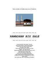 Ramadhan big sale