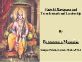 Ramayana & Transformational Leadership
