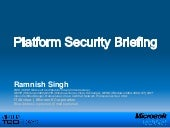 Ramnish Singh Platform Security Bri...