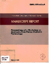 Proceedings of a Workshop on Hydrau...