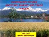 The seed sector in Nepal- Ram Sah