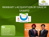 Acquisition of Ranbaxy by Daichii