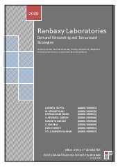 Ranbaxy laboratories project
