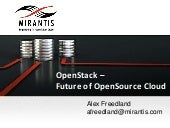 OpenStack - Future of OpenSource Cloud