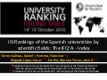 Rankings isi at the university ranking round table un 2010