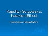 Rapidity (gorgotes) at karakter (et...
