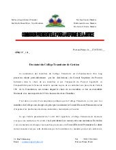 RAPPORT D'ANALYSES LA COMMISSION PR...