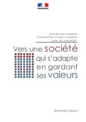 RAPPORT SUR LA QUESTION DES EXCEPTI...
