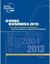 Rapport - Doing business 2013