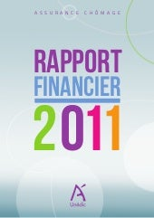 Unédic : rapport financier 2011