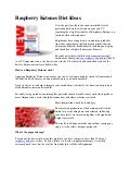 Raspberry ketones diet ideas