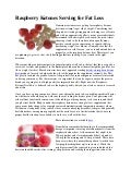 Raspberry ketones serving for fat loss