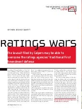 Rating Agency Liability for Current...