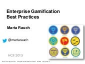 Enterprise Gamification Best Practices