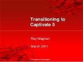 Ray Magnan - Transition to Captivate 5