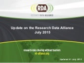 Research Data Alliance Member Statistics July 2015