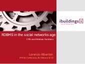 Graphs in the Database: Rdbms In The Social Networks Age