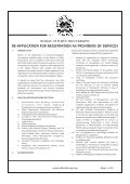TENDERS: Re- Application For Registration As Providers Of Services