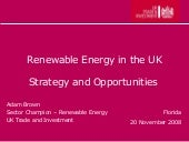 New Renewable Energy Strategy UK - ...