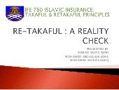 Re takaful - A Reality Check