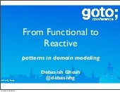 From functional to Reactive - patterns in domain modeling