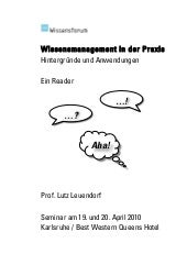 Wissensmanagement in der Praxis - E...