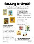 1st grade Reading Recommendations: Fall 2014