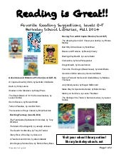 4th grade Reading Recommendations: Fall 2014