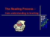 Reading Process From Understanding ...