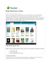 Read kobo books on ipad