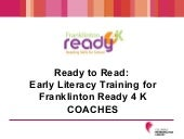 Ready To Read For Fr4 K Coaches