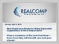 Realcomp's RCO3 System Enhancement Summary