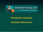 Real Estate - Australian Shares Scan