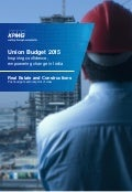 Impact of Budget 2015 on Real Estate and Construction sector