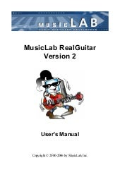 Real Guitar2 Manual