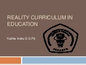Reality curriculum in education